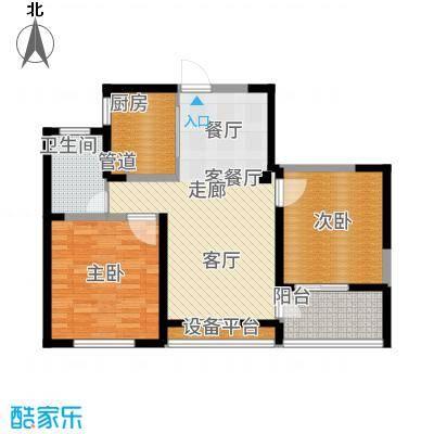 长江国际朗庭90.00㎡长江国际·朗庭A1户型2室2厅