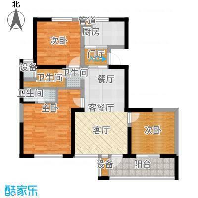 长江国际朗庭87.00㎡长江国际·朗庭B户型2室2厅