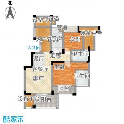 长江国际朗庭85.00㎡长江国际花园2期C1户型3室2厅