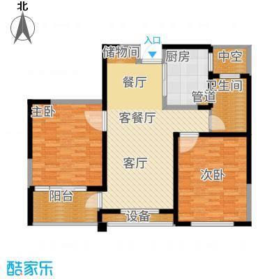 长江国际朗庭89.00㎡长江国际·朗庭D户型2室2厅