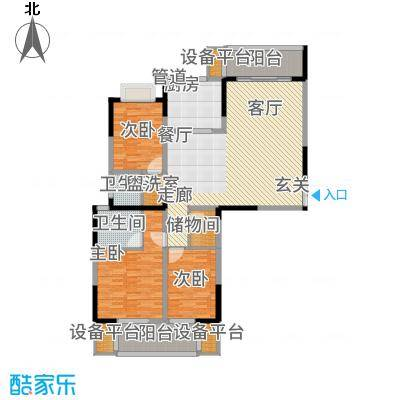 科大佳园159.04㎡19号栋07户型3室2厅