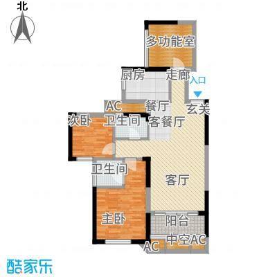 中航山水蓝天山水蓝天G1-3户型3室2厅