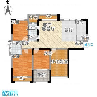 中航山水蓝天114.30㎡山水蓝天E-1户型4室2厅