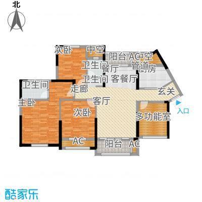 中航山水蓝天131.70㎡山水蓝天H-1户型4室2厅
