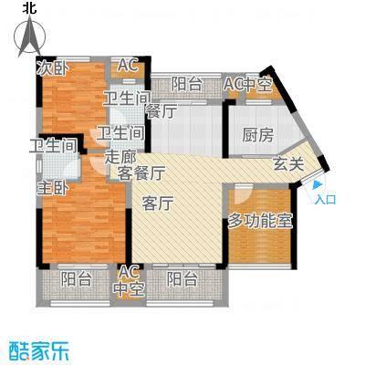 中航山水蓝天106.93㎡山水蓝天G1-1户型3室2厅