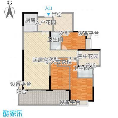 中建江山壹号169.00㎡1/2号栋C户型5室2厅