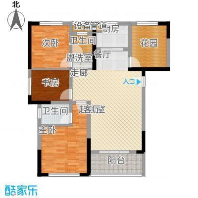 旭辉香樟公馆109.97㎡1号栋D3+户型3室2厅
