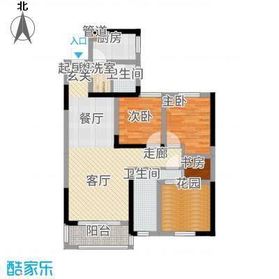 旭辉香樟公馆97.17㎡1号栋E2+户型2室2厅