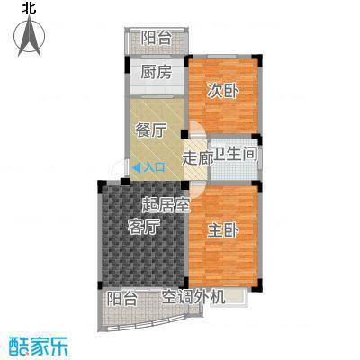 禹洲天境89.00㎡B户型2室2厅