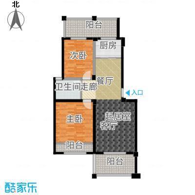 禹洲天境89.00㎡多层C-1户型2室2厅
