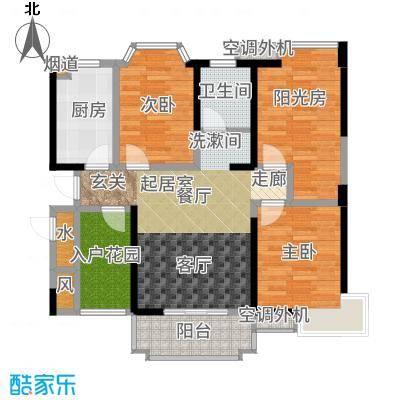 禹洲天境89.00㎡二期31-32#H1户型3室1厅