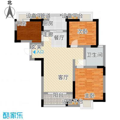 祥源城94.00㎡G4#户型3室2厅