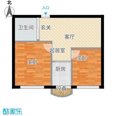 金海明珠5391-5302户型2室1厅