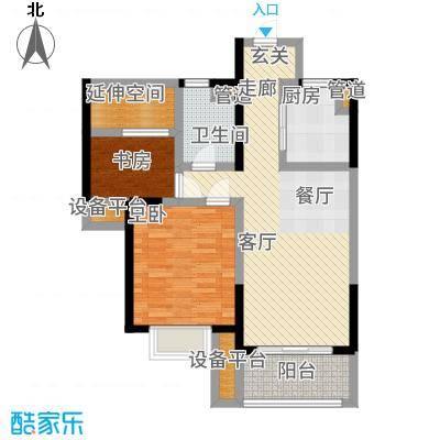 保利梧桐语75.00㎡3、4、5号楼D左岸香居户型2室2厅