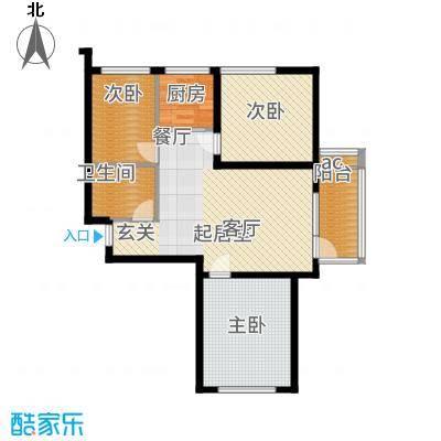 天鸿展视界83.11㎡天鸿·展世界18—20—21号楼A户型3室2厅