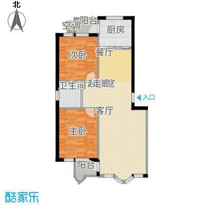 金海明珠8612-8678户型2室2厅