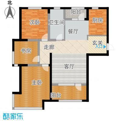 昊宇山海湾113.00㎡昊宇·山海湾E户型3室2厅
