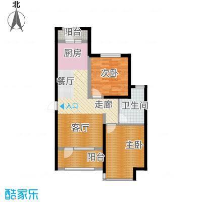 昊宇山海湾88.00㎡昊宇·山海湾C户型2室2厅