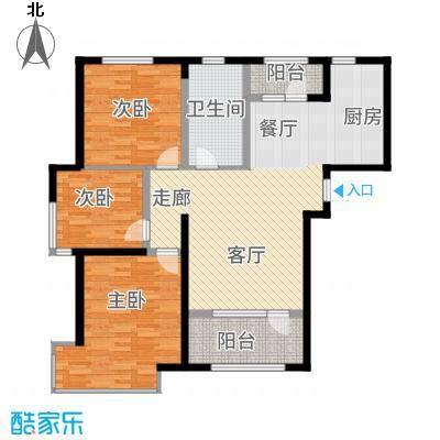 昊宇山海湾104.00㎡昊宇·山海湾D户型3室2厅
