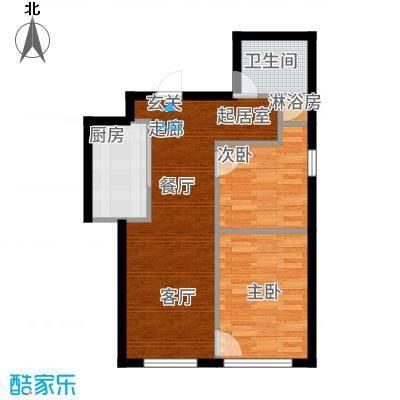 圆梦园64.00㎡C-户型2室2厅
