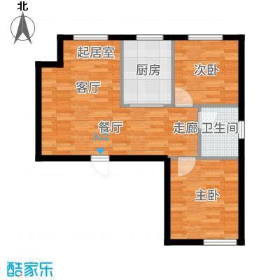 圆梦园74.00㎡D-户型2室2厅