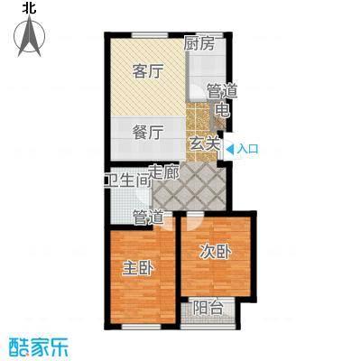 蔚海新天地92.47㎡蔚海·新天地小高层LG5户型2室2厅