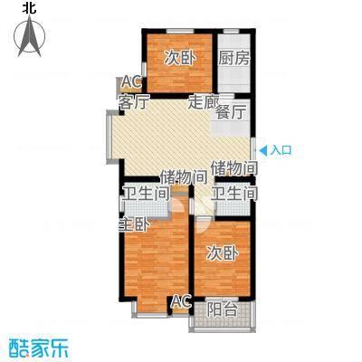 西部枫景傲城121.16㎡1#5#8#户型3室2厅