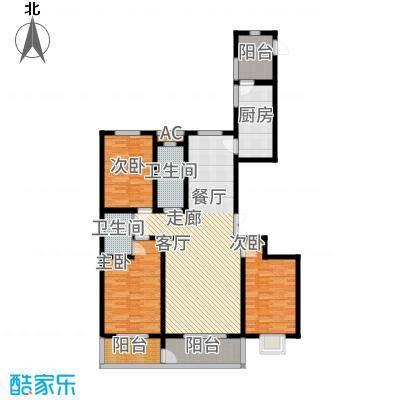 西部枫景傲城155.00㎡2#6#户型3室2厅