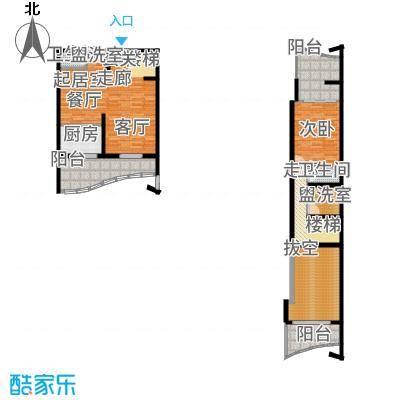 广信百度城Ⅱ大家l5号楼LoftG户型