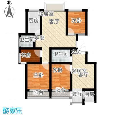华新家园87.16㎡A1系列户型3室1厅