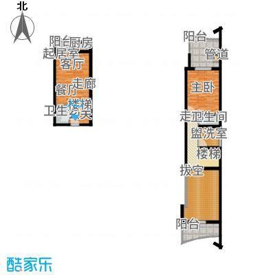 广信百度城Ⅱ大家5号楼LoftH户型