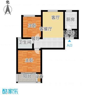 御江景城87.88㎡6号楼F户型2室2厅