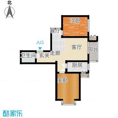燕西台79.20㎡C2-01户型2室2厅