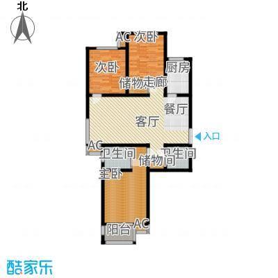 燕西台127.07㎡D-1户型3室2厅
