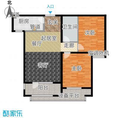 雍雅锦江98.51㎡6#E户型2室2厅