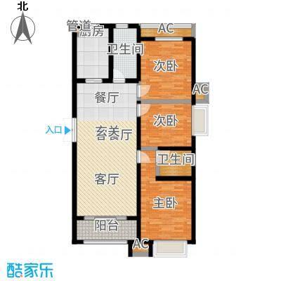 泰丰观湖135.81㎡3#B7-2户型2室2厅