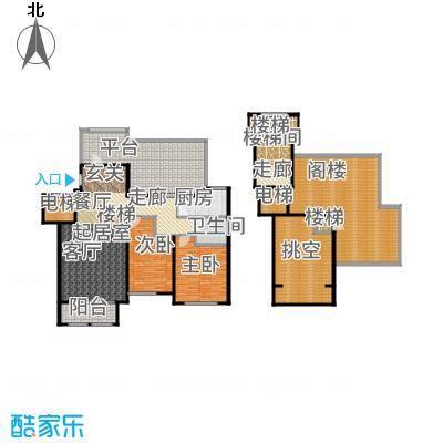 紫睿天和108.30㎡2期睿界5号楼顶层户型2室2厅