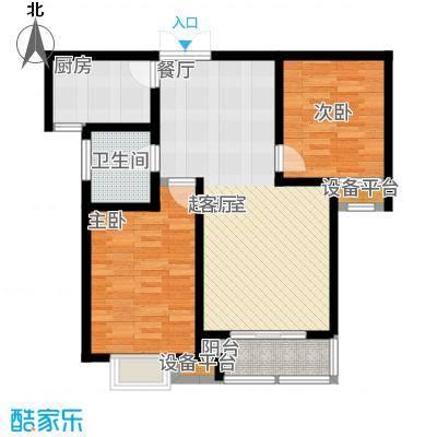 泰丰观湖99.43㎡5#12#14#户型2室2厅