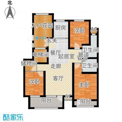 国仕山135.28㎡三期国仕墅M2户型3室2厅