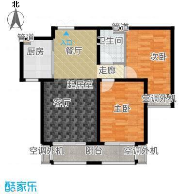 想象国际89.96㎡B1户型2室2厅