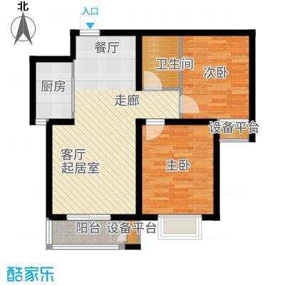 光华里92.00㎡4号楼B户型2室2厅