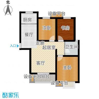 天冠城110.16㎡5号楼C户型3室2厅
