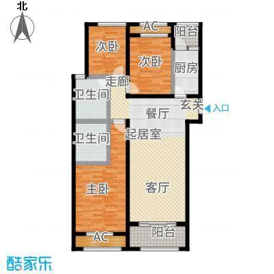 广厦财富中心122.66㎡12266C2户型3室2厅