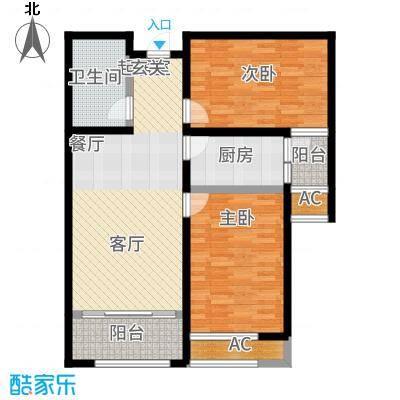 广厦财富中心90.15㎡9015B3户型2室2厅