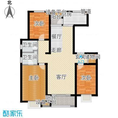 众美凤凰绿都138.00㎡3号地7#楼I户型3室2厅