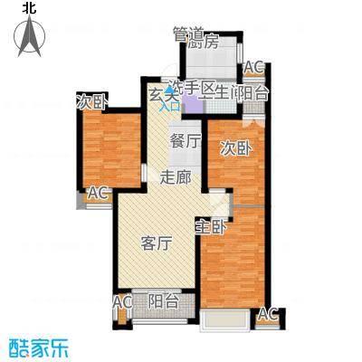 润德天悦城105.62㎡2号3号5号楼户型3室2厅
