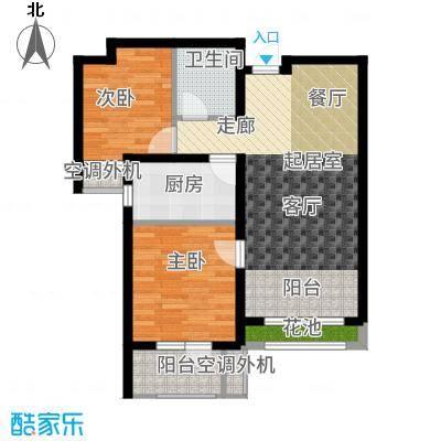 兰亭90.27㎡C3户型2室2厅