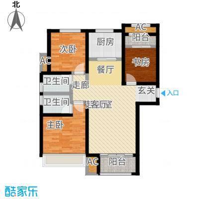 红石原著小区116.80㎡2-7#E1户型3室2厅