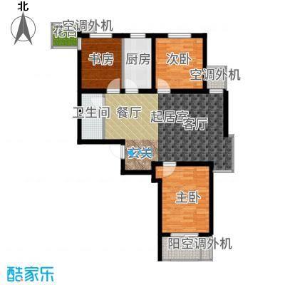 兰亭105.63㎡C1户型3室2厅