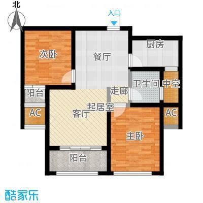 红石原著小区92.80㎡2-7#E2户型2室2厅